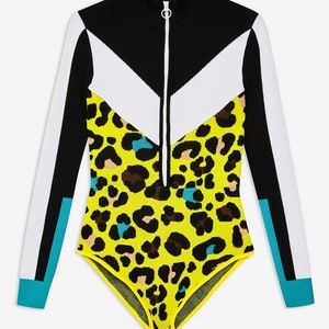 Leopard Knitted Layering Bodysuit By Topshop SNO